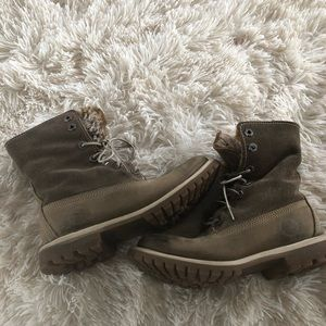 Timberland fur lined waterproof boots